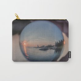 Annisquam sunset though a Crystal Ball Carry-All Pouch