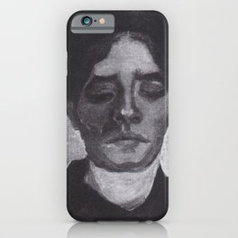 Vincent van Gogh - Head of a young Peasant woman with a dark hood iPhone Case
