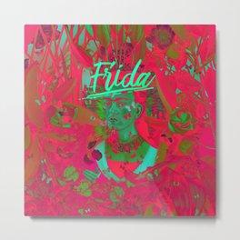 Frida Kahlo neon IV Metal Print