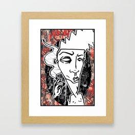 Smoke Session Framed Art Print