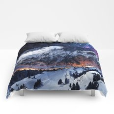 Mountain CALM IN space view Comforters