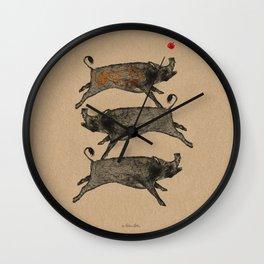 Wild Pig Wall Clock
