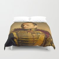 allyson johnson Duvet Covers featuring Dwayne (The Rock) Johnson - replaceface by replaceface