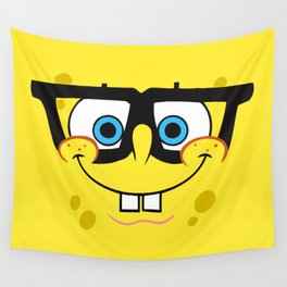 Spongebob Nerd Face Wall Tapestry