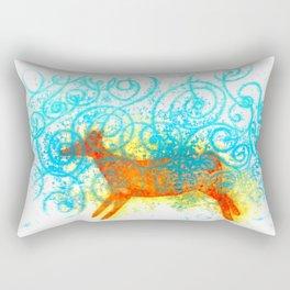 Run in a dream Rectangular Pillow