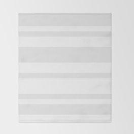 Mixed Horizontal Stripes - White and Pale Gray Throw Blanket