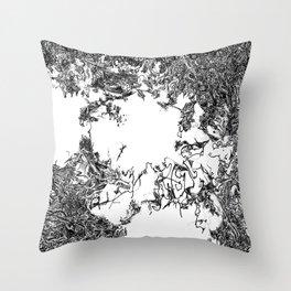 Babylon No. 1 (Detail) | Black & White Throw Pillow