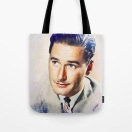 Errol Flynn, Vintage Movie Star Tote Bag