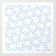 Kawaii Winter Snowflakes Art Print