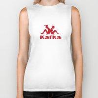 kafka Biker Tanks featuring Kafka by le.duc