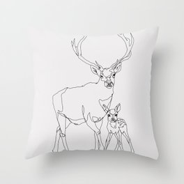 Bambi & Stag Throw Pillow