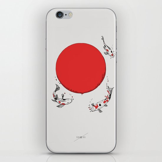 Koi and Sun iPhone & iPod Skin