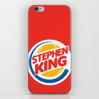 stephen king iPhone & iPod Skins featuring Stephen King by Alejo Malia