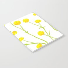 Summer Flower Pattern in Yellow and Green Notebook
