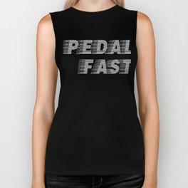 Pedal Fast Cycling I Love Pedaling Riding Bikes Silver Biker Tank