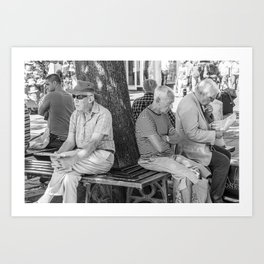 Men Passing Time Art Print