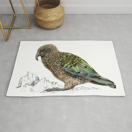 Mr Kea, New Zealand parrot Rug