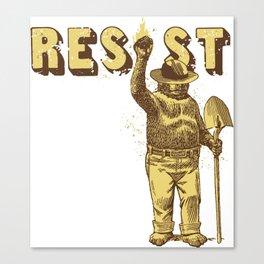 Smokey says Resist shirt Canvas Print