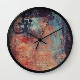 Mixed Coloured Pop Paint Wall Clock