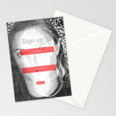 SOCIAL NETWORK Stationery Cards