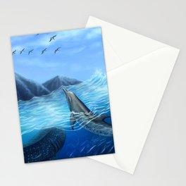Blue Harmony Stationery Cards