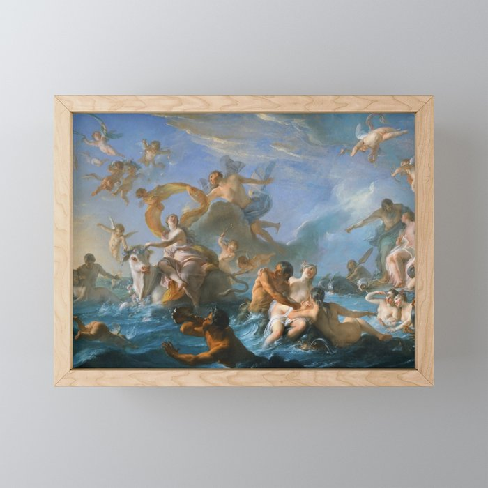 The Abduction of Europa by Noel-Nicolas Coypel, 1727 Framed Mini Art Print