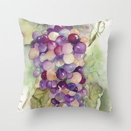 Wine Grapes 2 Throw Pillow