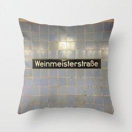 Berlin U-Bahn Memories - Weinmeisterstraße Throw Pillow