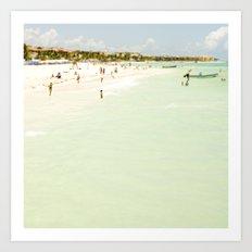 Seaside Swim Art Print