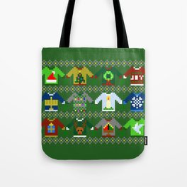 The Ugly 'Ugly Christmas Sweaters' Sweater Design Tote Bag