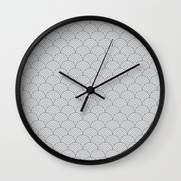 Grey Concentric Circle Pattern Wall Clock