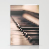 piano Stationery Cards featuring Piano by Juste Pixx Photography