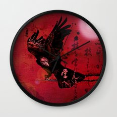The crow philosophizes Wall Clock