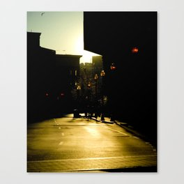 Exponential Lights on a Street of Gold  Canvas Print
