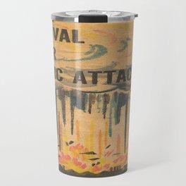 Vintage poster - Survival under atomic attack Travel Mug