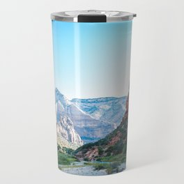 Between Mountains | Nature Landscape Photography of Valley Between Mountains in Zion Utah Travel Mug