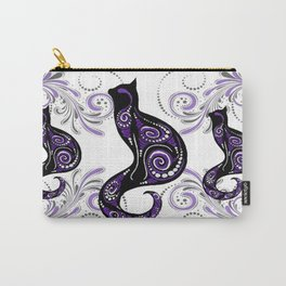 Swirly Cats Carry-All Pouch