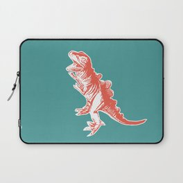 Dino Pop Art - T-Rex - Teal & Dark Orange Laptop Sleeve