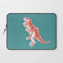 Dino Pop Art - T-Rex - Teal & Dark Orange Laptop Sleeve
