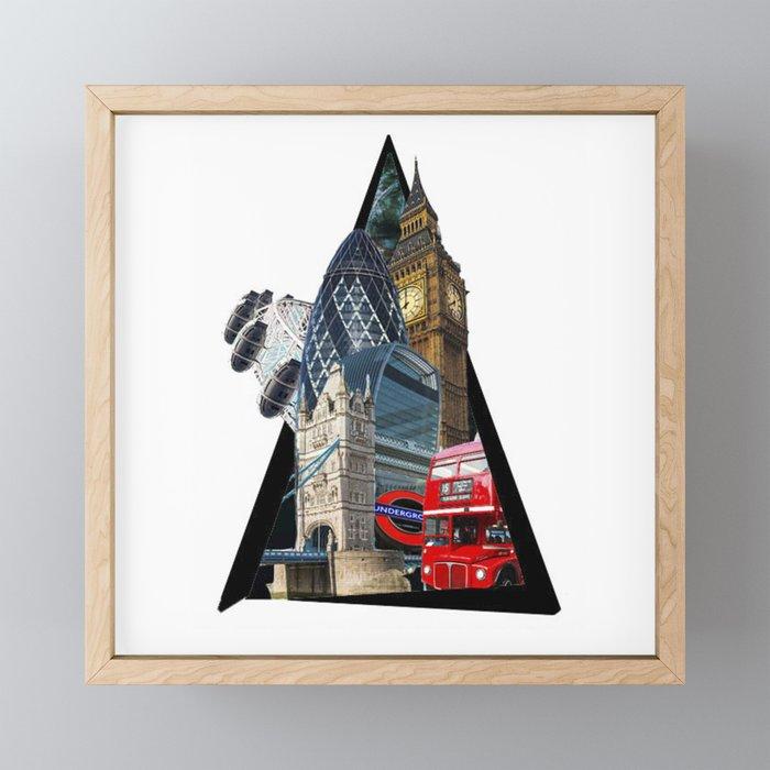 London UK Symbol ArtWork Cities Framed Mini Art Print