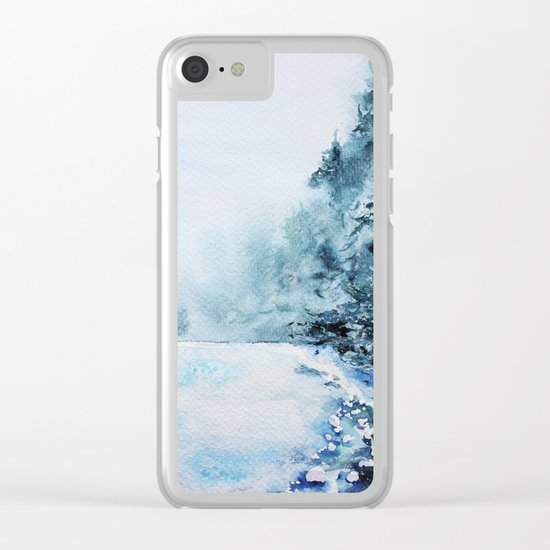 Winter fun Clear iPhone Case