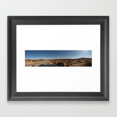 Three Places at Once Framed Art Print