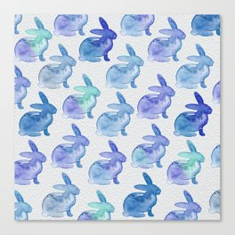 Watercolor Bunnies 1J by Kathy Morton Stanion Canvas Print