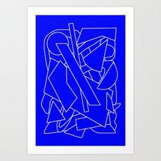 BluE humble Art Print