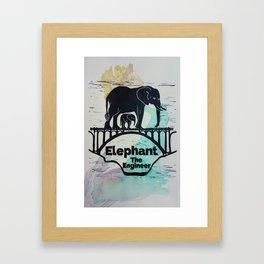 Elephant the Engineer Framed Art Print