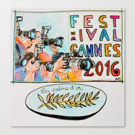 Cannes film festival 2016 watercolor Canvas Print