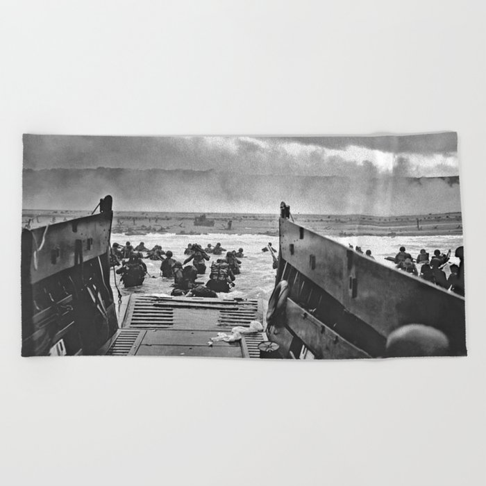 Omaha Beach Landing D Day Beach Towel by historystuff