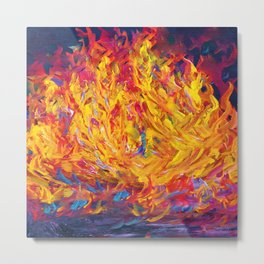 Fire and Passion - Here's to New Beginnings Metal Print