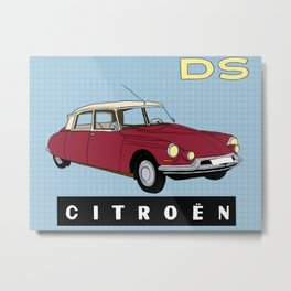 Citroen DS - La Belle Époque Metal Print