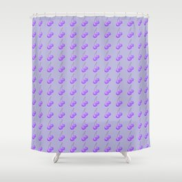 Purple Cherries Shower Curtain